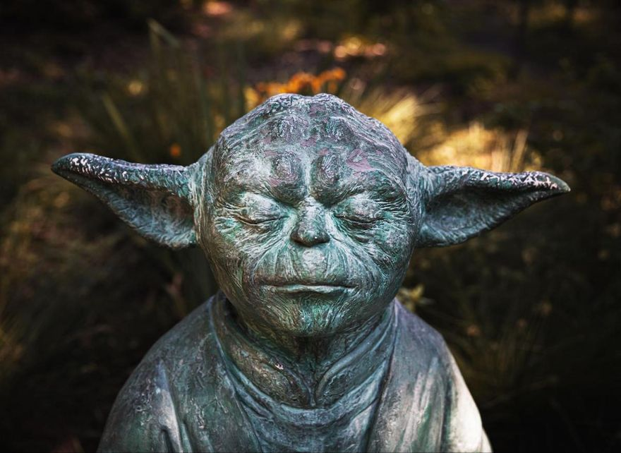 statue of Yoda from Star Wars