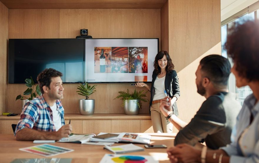 Epics agile: Agile team in a discussion