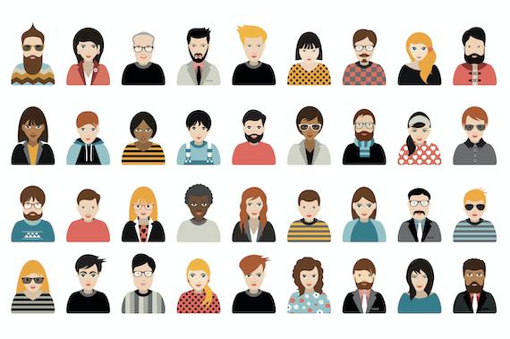 User segmentation: Avatars of different nationality