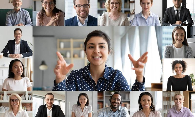 Product management software: people in a video conference call