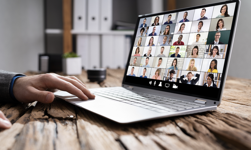 big room planning: online video meeting