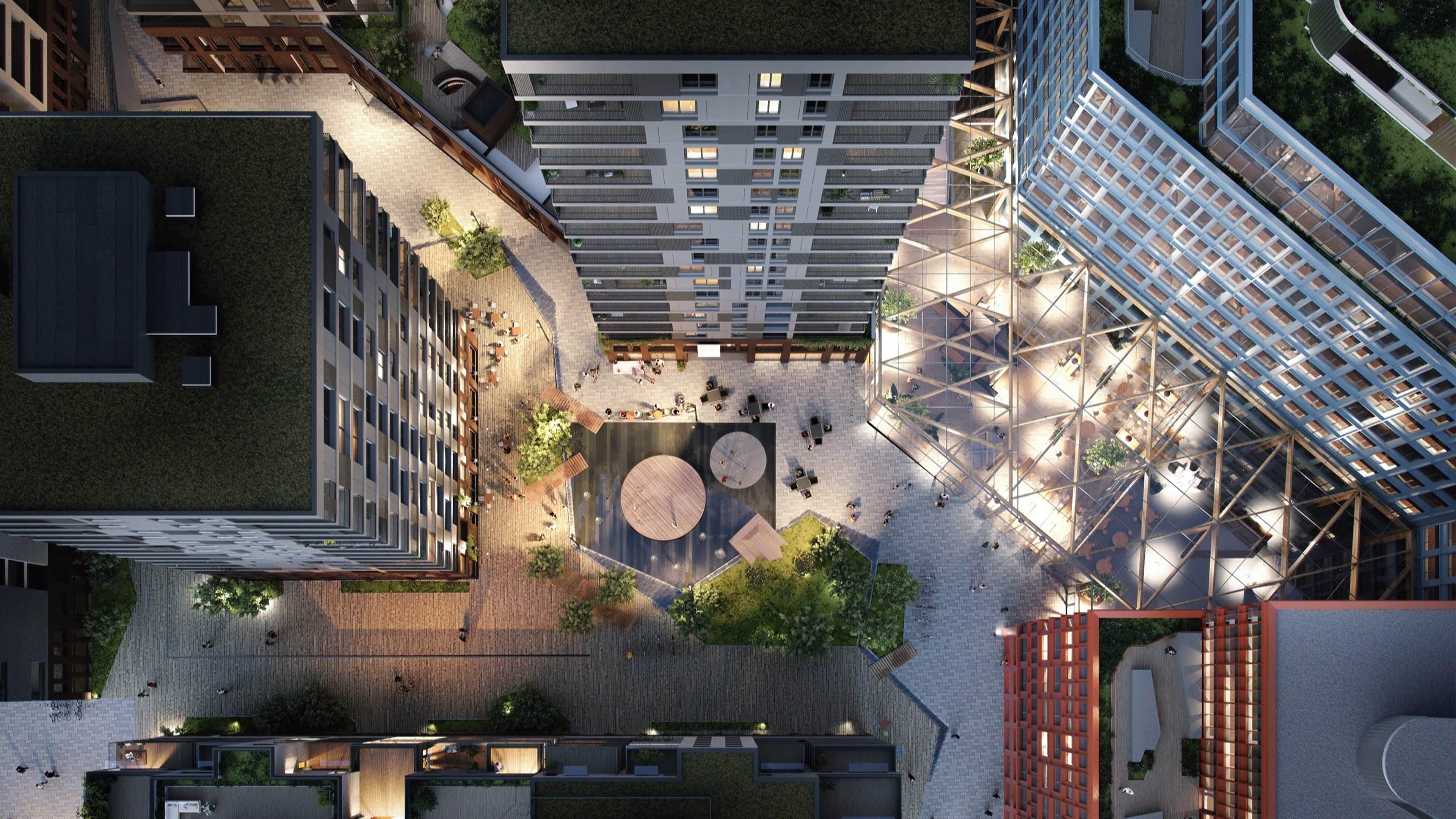 Stor-Oslo Eiendom utvikler prosjektet Meierikvartalet i en samspillsentreprise med BundeBygg AS, og i samarbeid med DARK arkitekter. Illustrasjon: Stor-Oslo Eiendom, Meierikvartalet