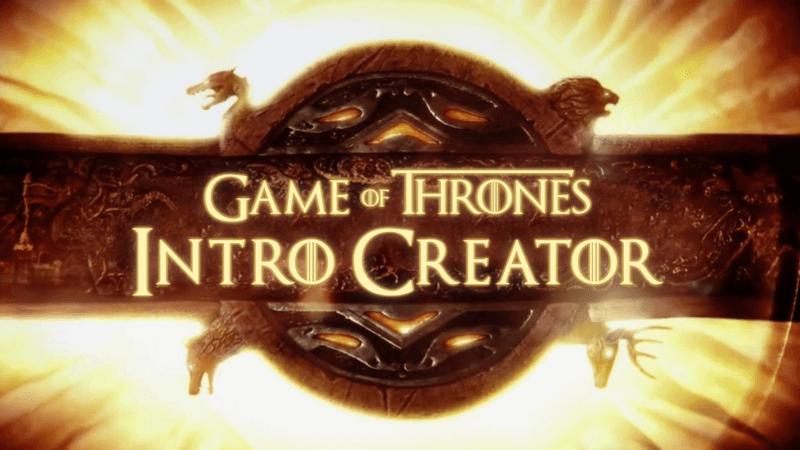 New release: Game of Thrones Intro Creator