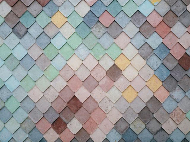 Et vakkert tak av pastellfarger.