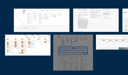 Screenshots som viser et utvalg statistikk fra nettsidene til gym og turn