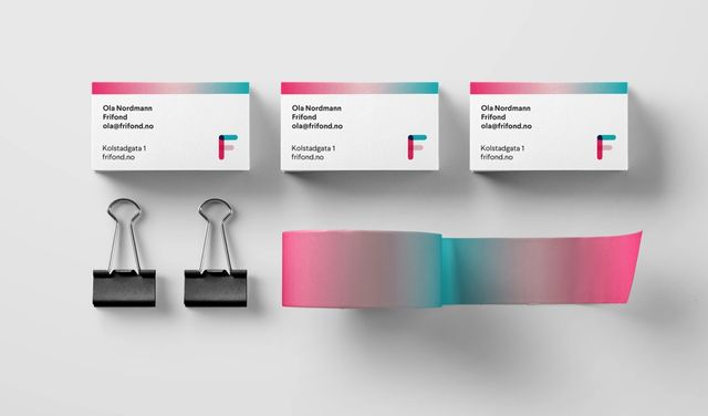 Eksempel på visittkort design for Frifond