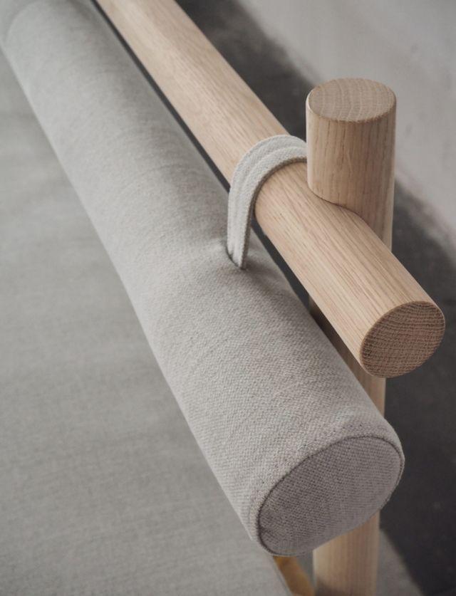 Nærbilde av møbler laget av Krafted. Foto