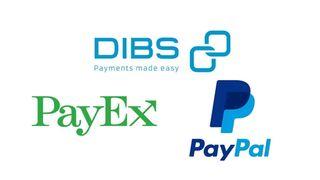 Logoen til PayEx, Dibs og PayPal