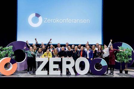 Gruppebilde av gjengen i Miljøstilftelsen ZERO under Zerokonferansen.