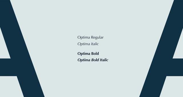 Eksempel på hvordan fonten Optima Bold ser ut