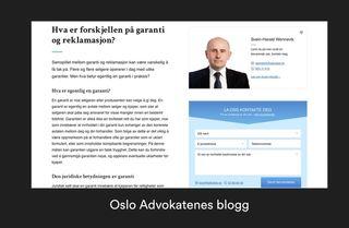Eksempel på Oslo Advokatenes blogg