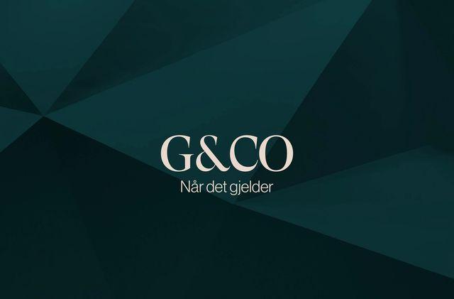 """Logoen til Advokatfirmaet Grindstad, samt slagordet """"Når det gjelder"""""""