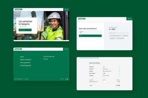 Ulike eksempler på designet av nettsiden til NGTF