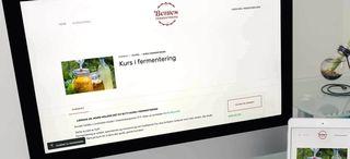 Screenshot av nettsiden til Bentes Fermentering