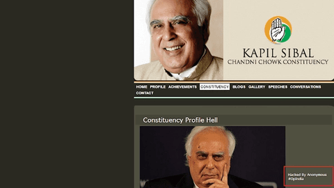 Cover Image for kapil sibals website hacked by annonymous