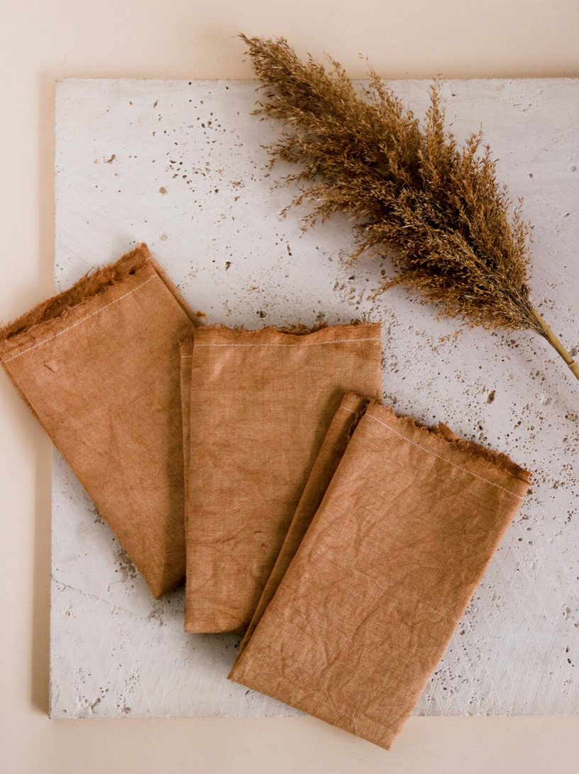 Product Image for Linen Napkin Set, Rust