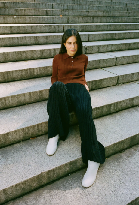 Product Image for Florence Ribbed Pant, Noir