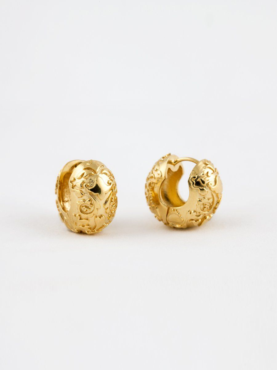 Product Image for Folk Baroque Hoops, Vermeil