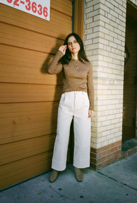 Product Image for Laura Collared Sweater, Chestnut