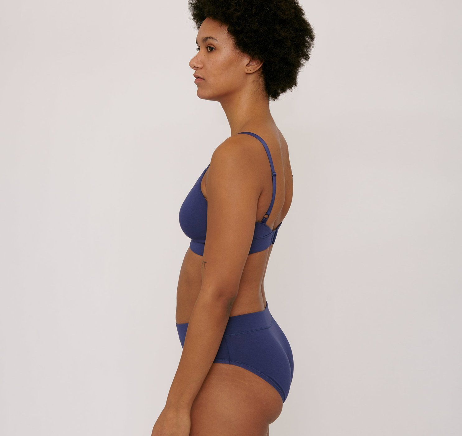 Product Image for Organic Cotton Triangle Bra, Cobalt