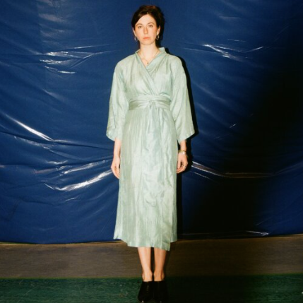 Product Image for Handwoven Silk Robe, Sage