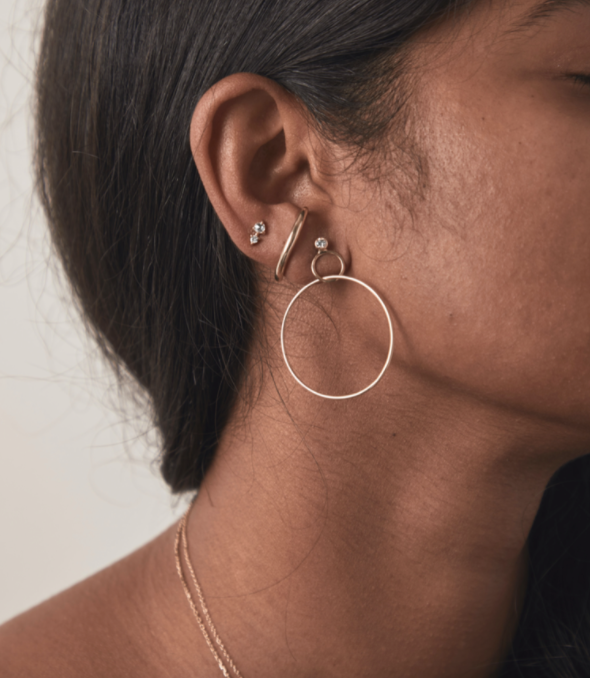 Product Image for Here My Love, Opal Hoops