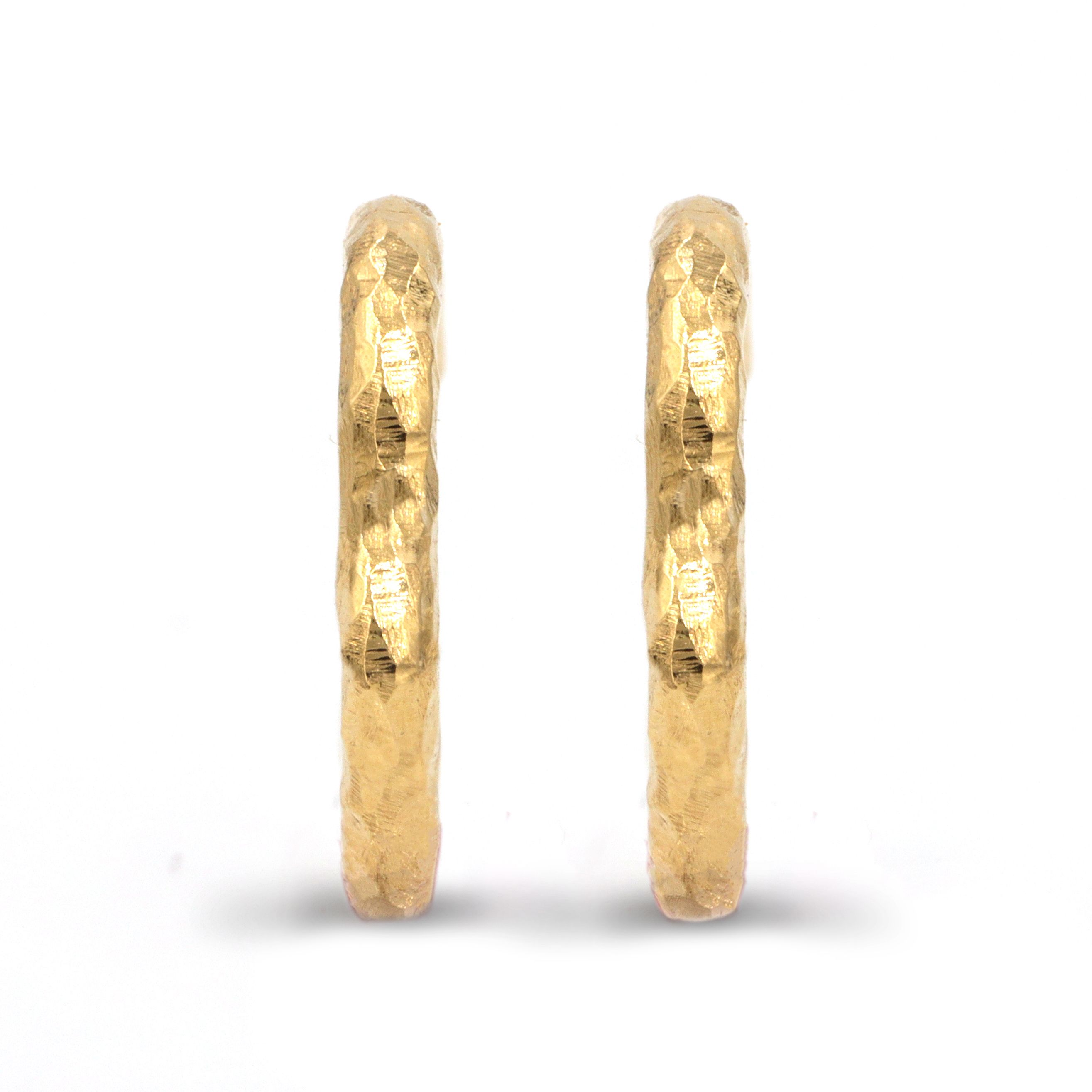 Product Image for Micro Gabby Hoops, Yellow Gold