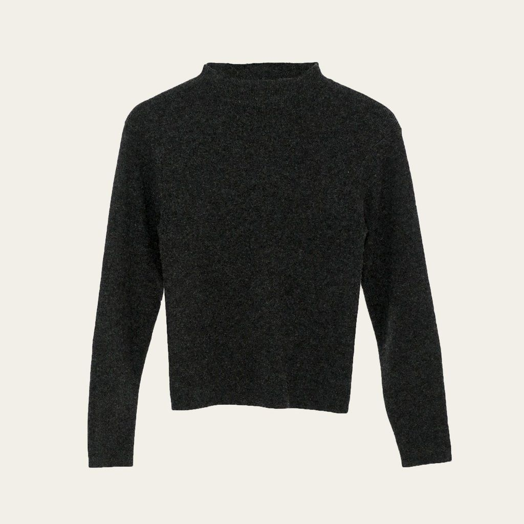 Product Image for Long-Sleeve Mock Neck, Charcoal Gray