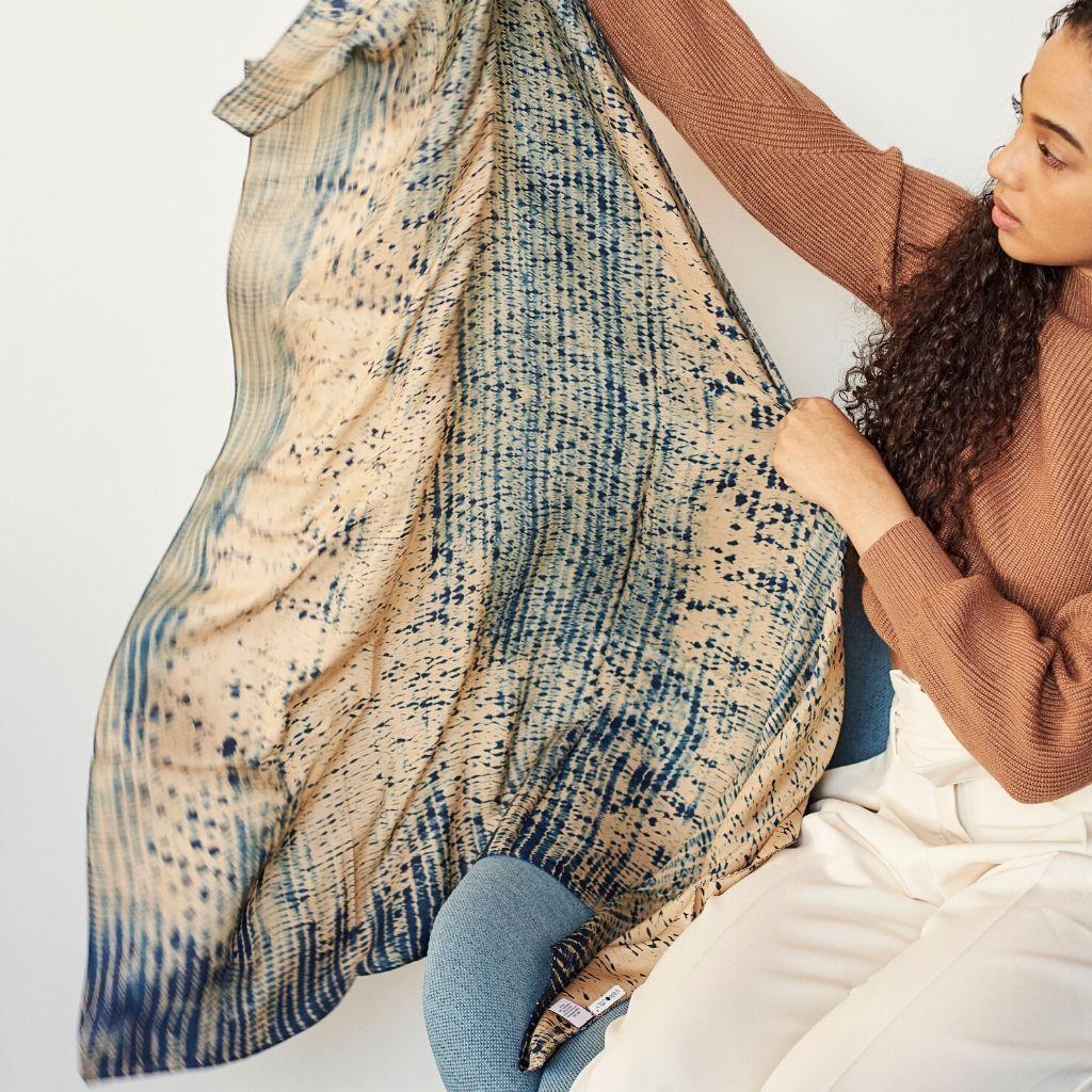 Product Image for Tesu Indigo Silk Scarf