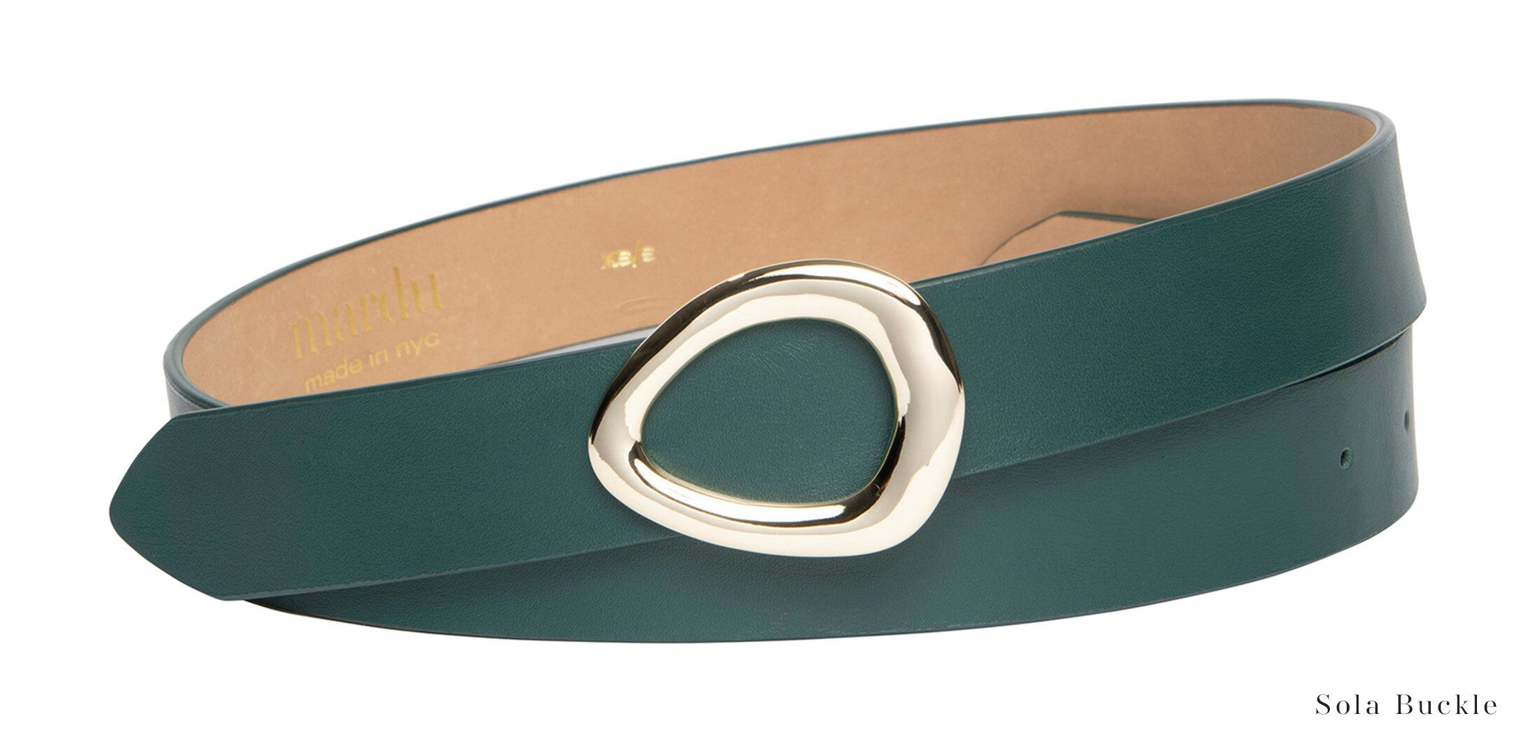 Product Image for Serpentine Green Belt, Sola Buckle