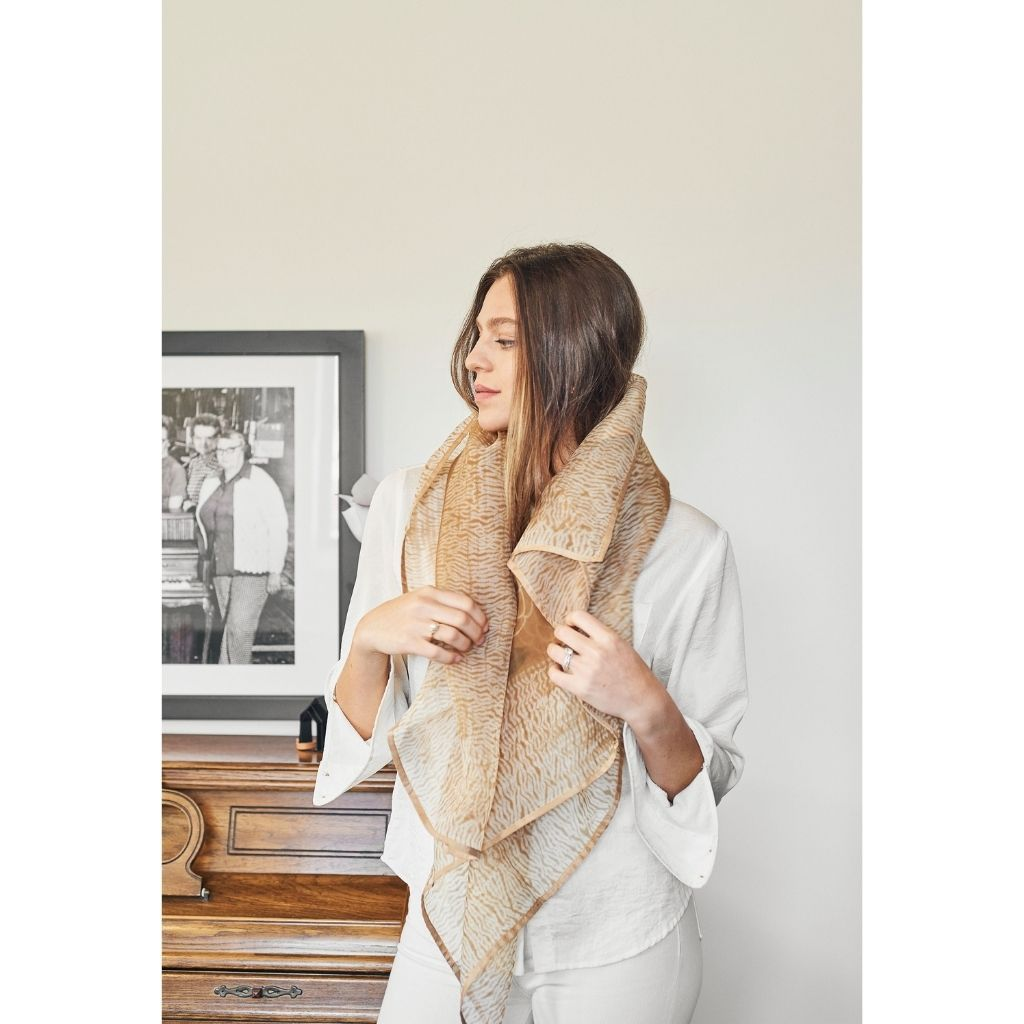 Product Image for Primrose Cinnamon Silk Scarf