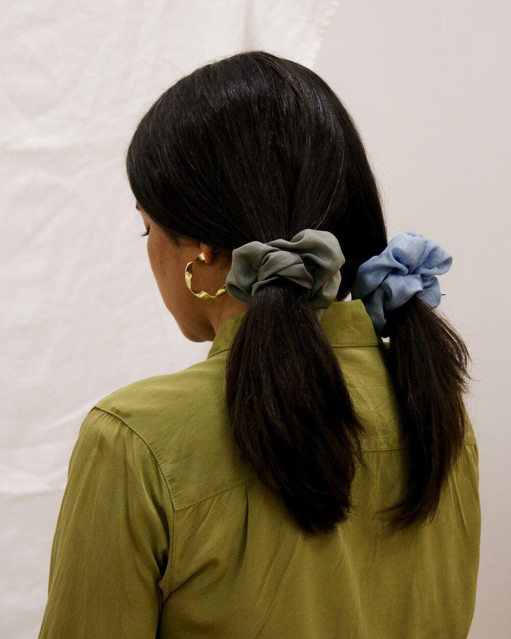 Product Image for Indigo Silk Scrunchie