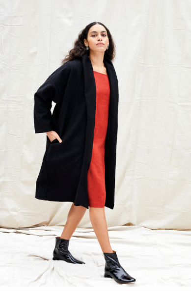 Product Image for Riverside Coat, Noir Wool