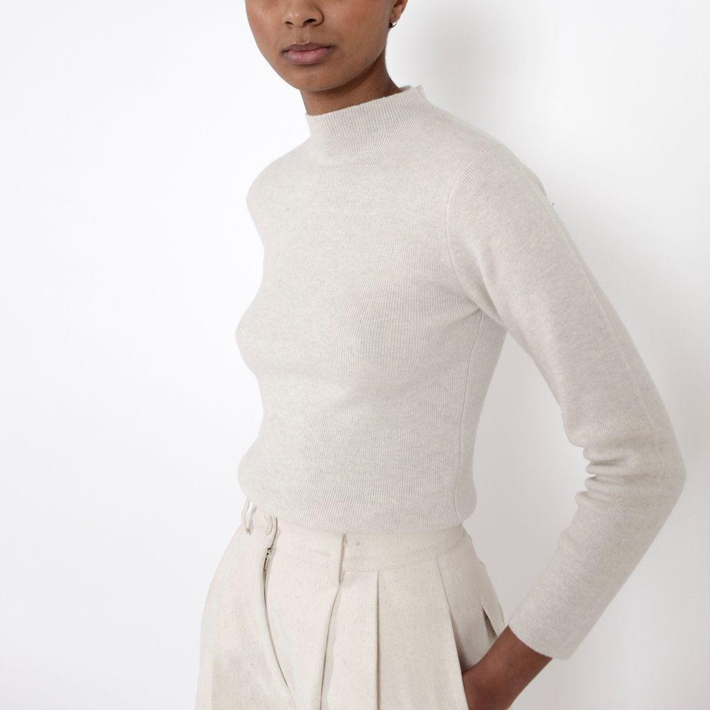Product Image for Long-Sleeve Mock Neck, Off-White