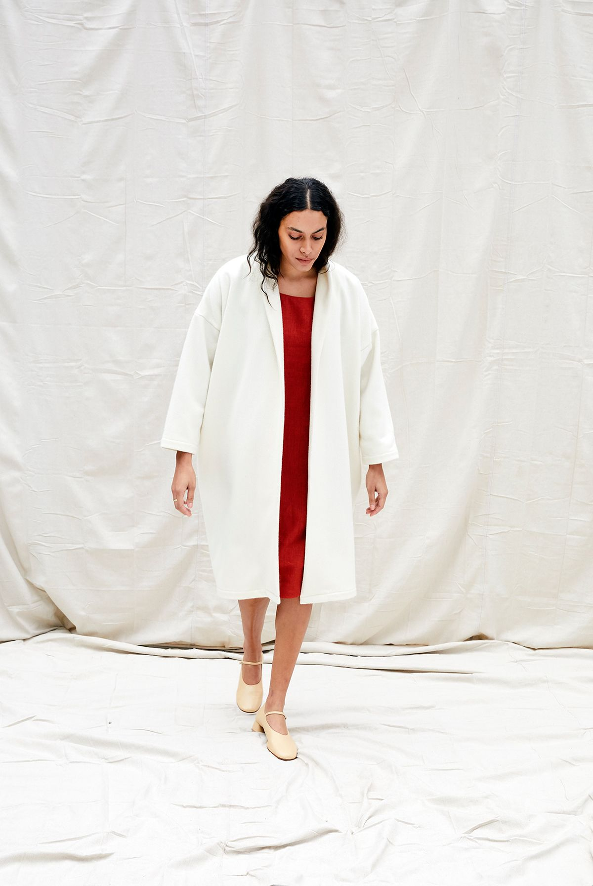Product Image for Riverside Coat, Ivory Wool