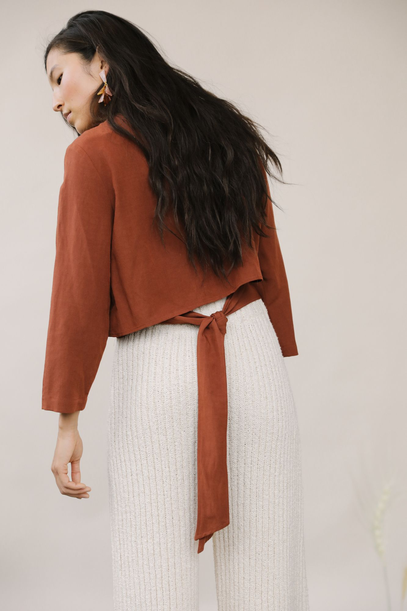 Product Image for Flora Wrap Top, Merlot