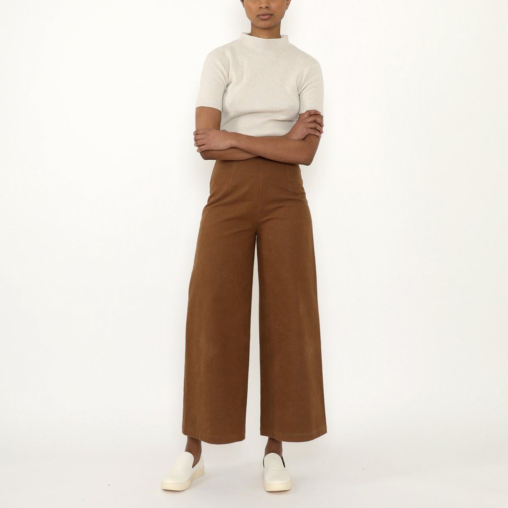 Product Image for Wide-Legged Trousers, Cinnamon