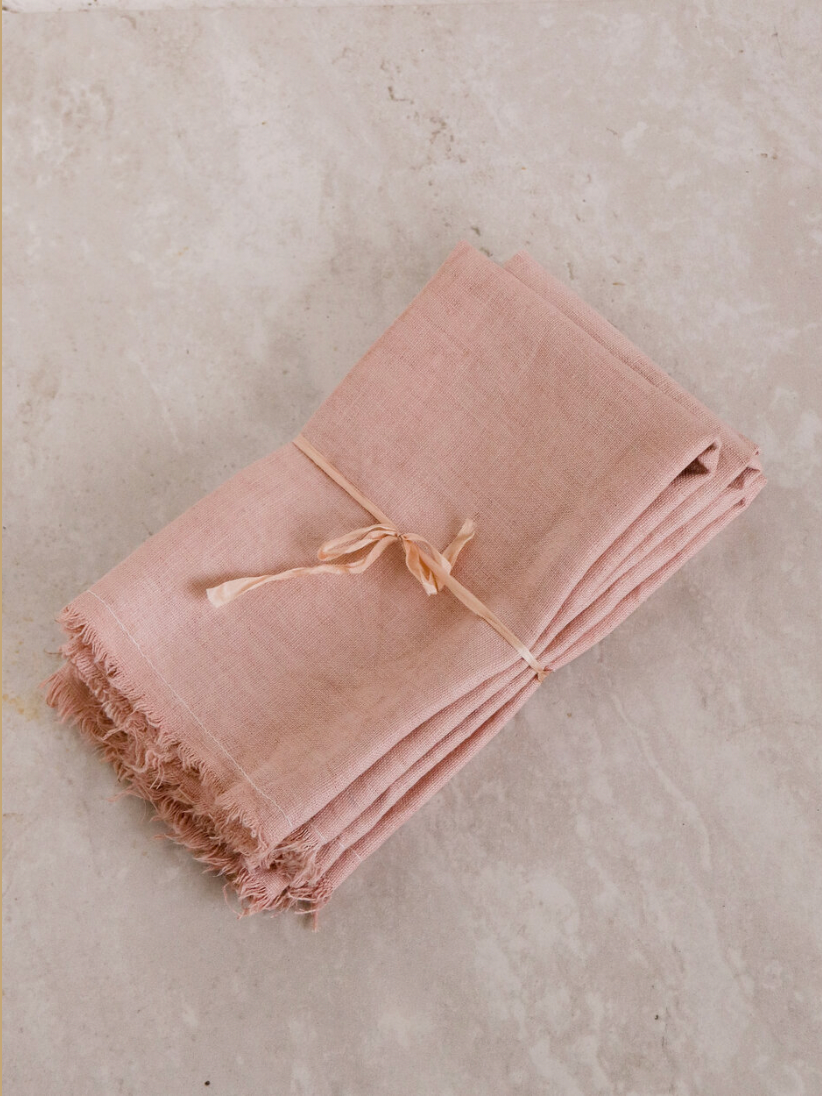 Product Image for Linen Napkin Set, Mauve