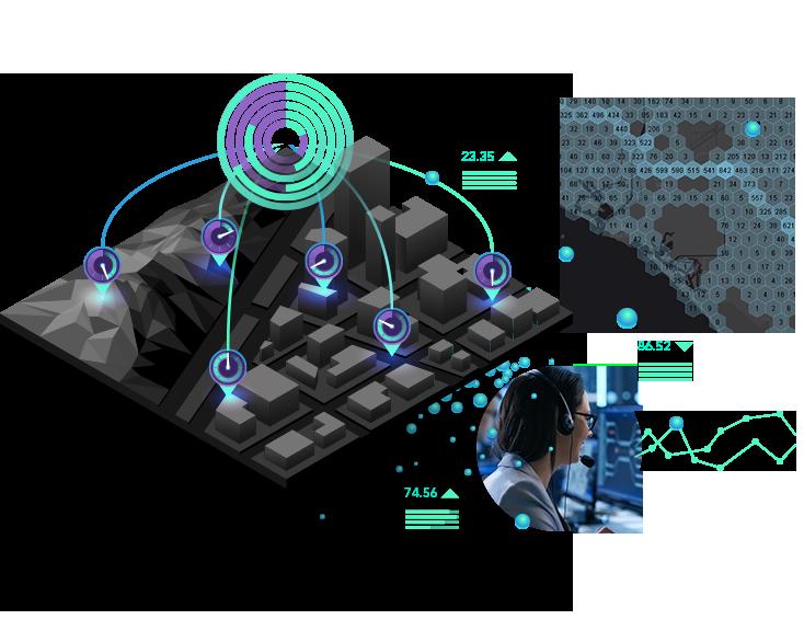 Diagrama mostrando as soluções avançadas da MYR