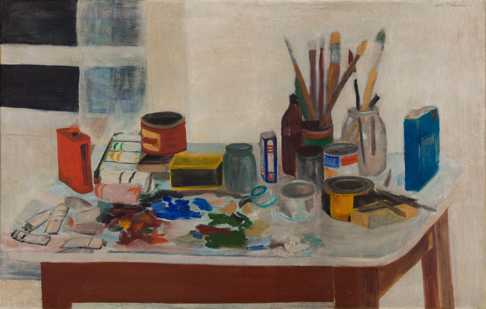 Jane Freilicher, The Painting Table, 1954, from