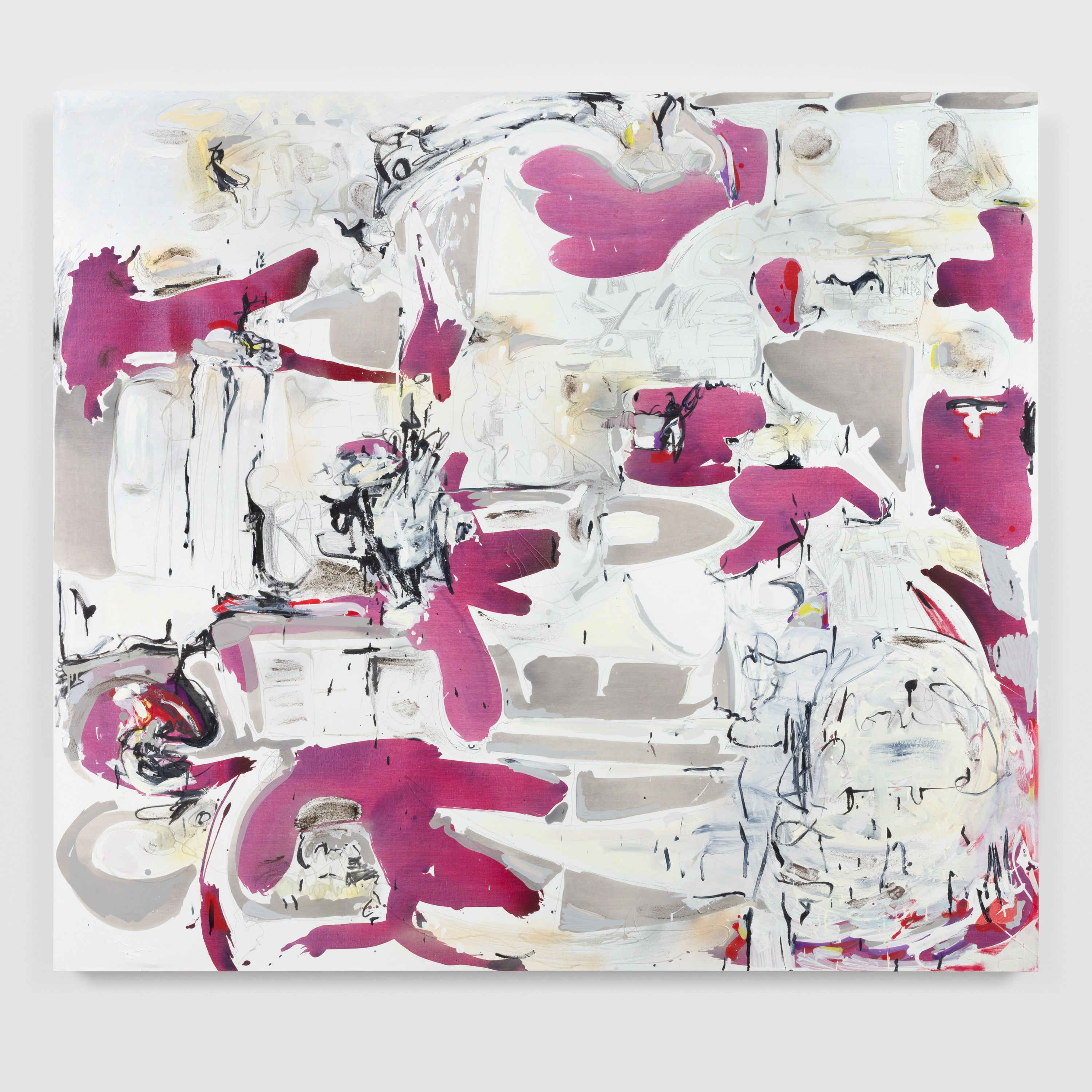 Suzanne McClelland, PLAYLIST in black and white with REDS, 2021 Marianne Boesky