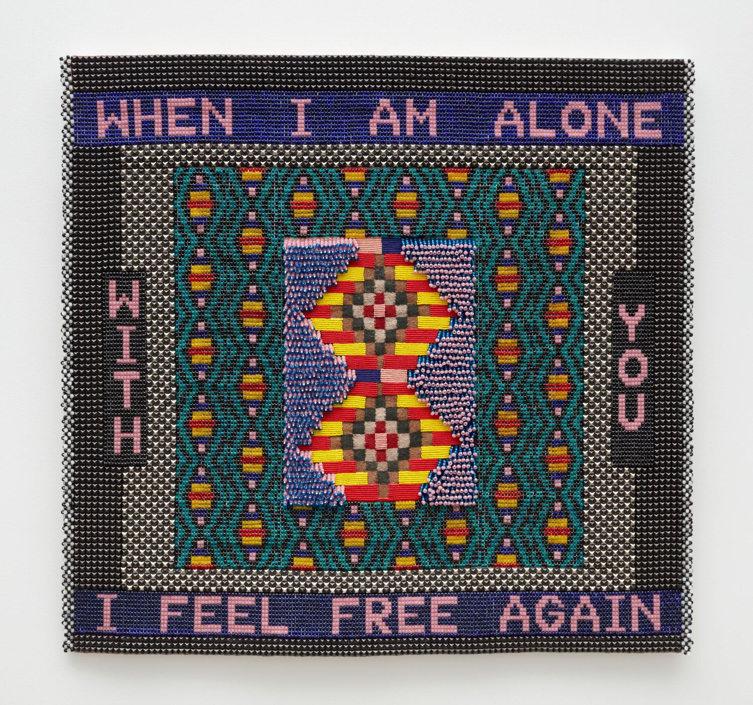 Jeffrey Gibson, WHEN I AM ALONE WITH YOU I FEEL FREE AGAIN, 2020, from