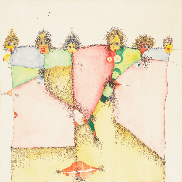 Huguette Caland, Homage to Pubic Hair, 1992. Drawing Center