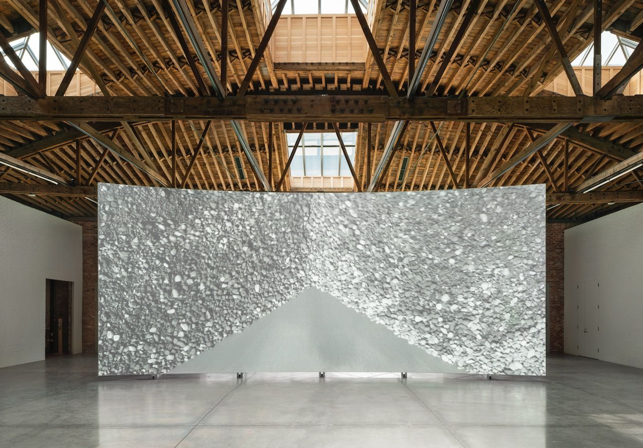 Lucy Raven, Ready Mix, 2021. Installation view, Dia Chelsea