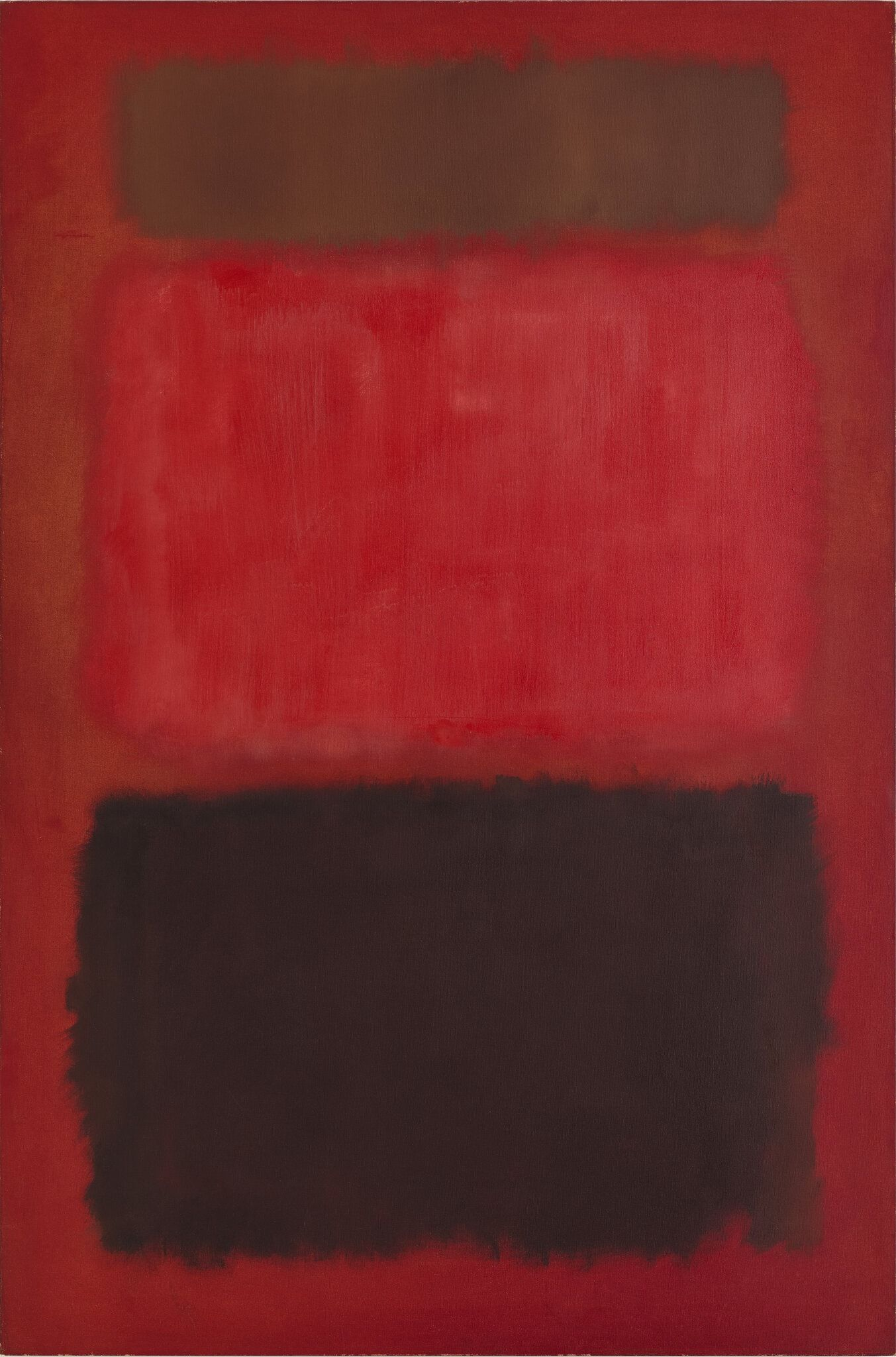 Mark Rothko, Browns and Blacks in Reds, 1957, from