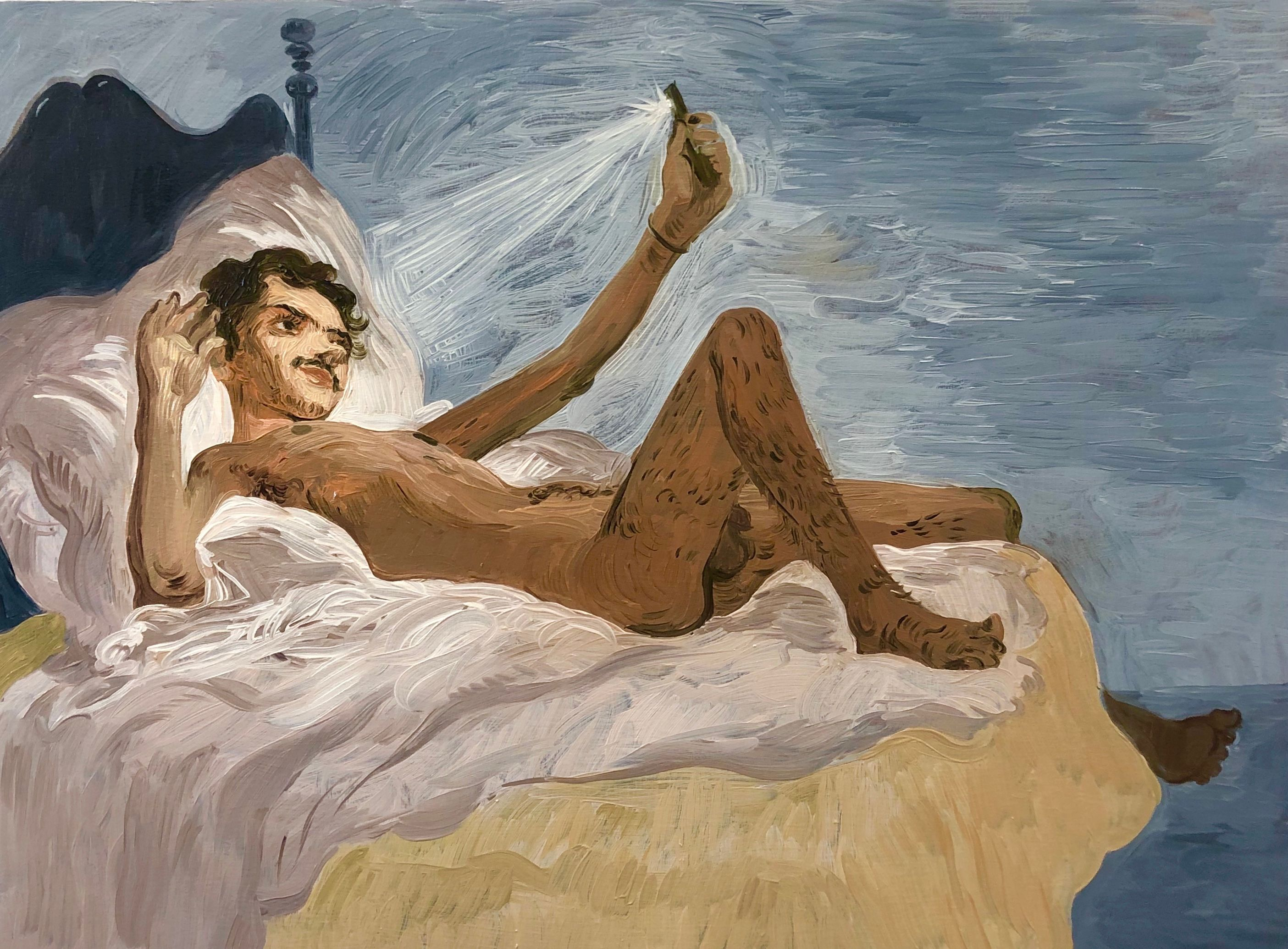 Salman Toor, Bedroom Boy, 2019, Whitney Museum of American Art