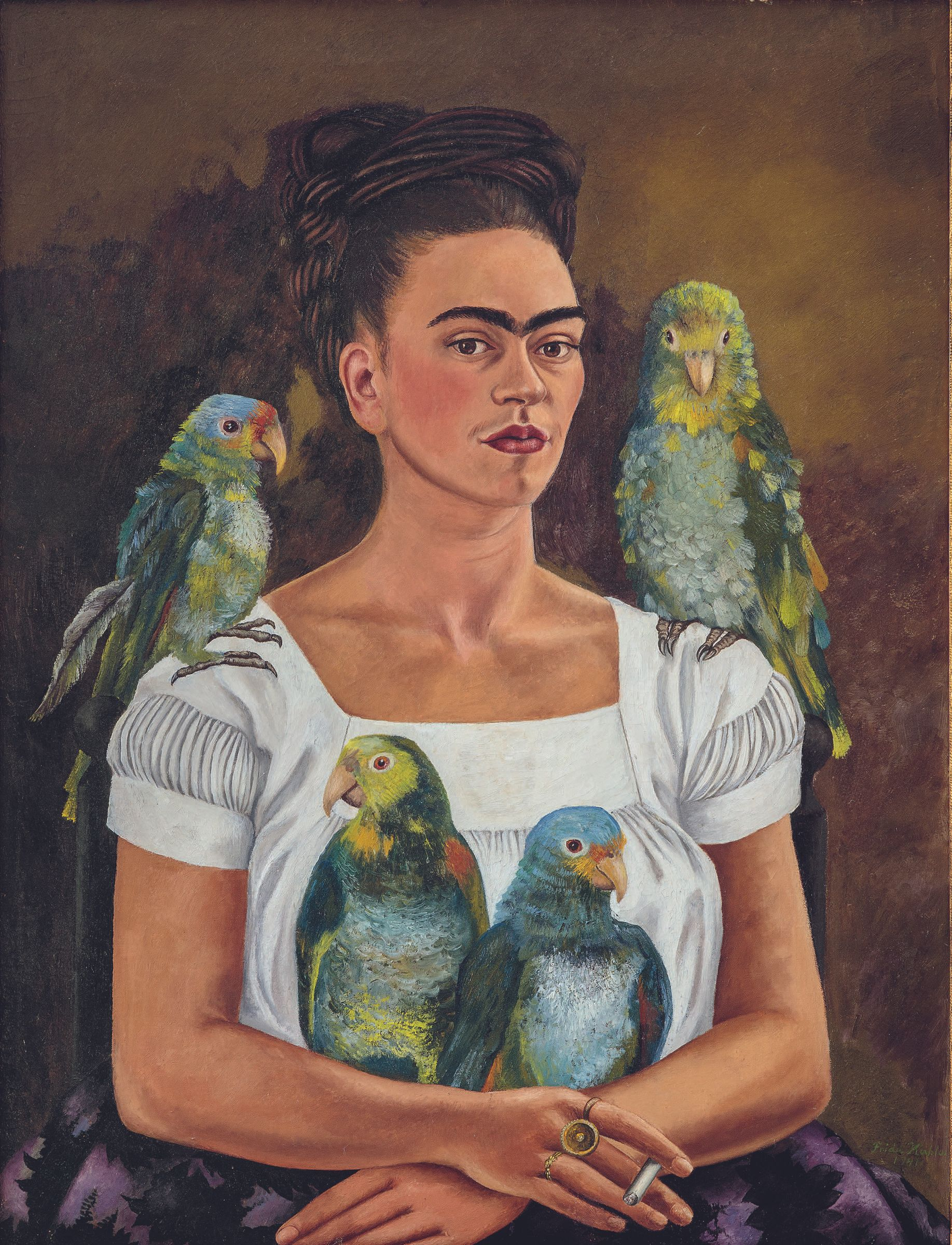 Frida Kahlo, Me and My Parrots, 1941, Whitney Museum