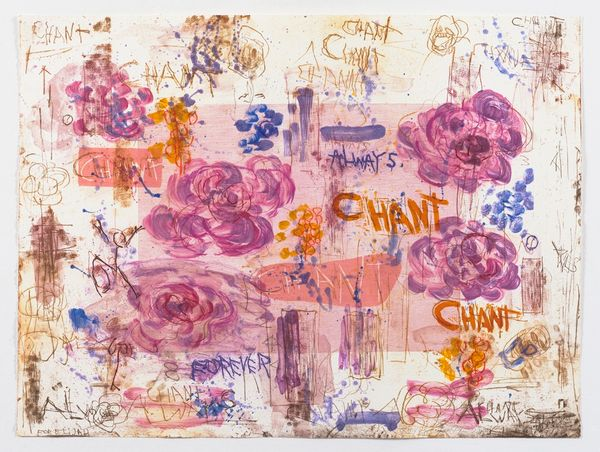 Joan Snyder Chant / Forever, 2019  Color lithograph, etching (wiped a la pope in 2 colors) & color woodcut