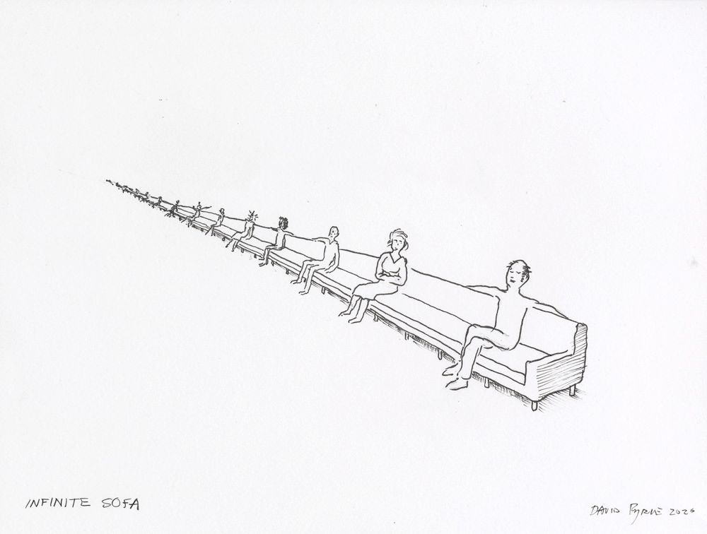 David Byrne, Infinite Sofa, 2020