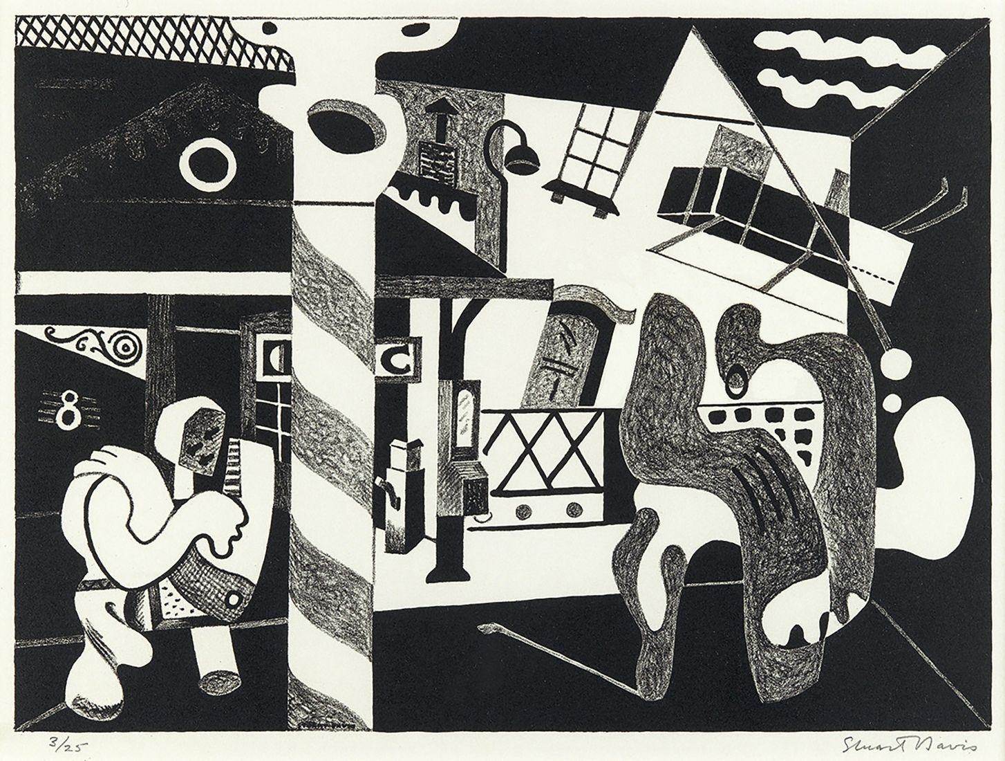 Stuart Davis, Two Figures and El, New York, New York, Craig F. Starr Gallery.